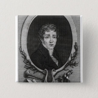 Portrait of Sebastian-Roch Nicolas 15 Cm Square Badge