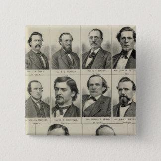 Portrait of Senators in Minnesota 15 Cm Square Badge