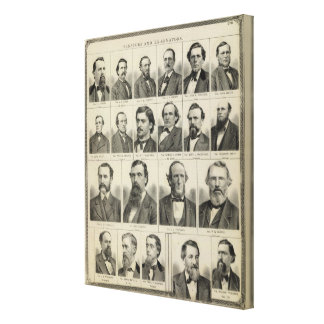 Portrait of Senators in Minnesota Canvas Print