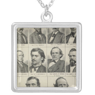 Portrait of Senators in Minnesota Silver Plated Necklace