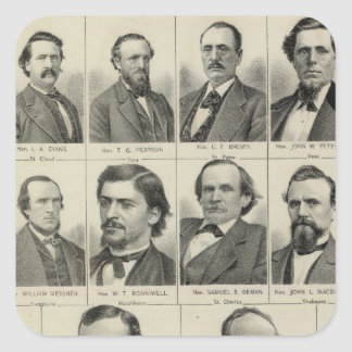 Portrait of Senators in Minnesota Square Sticker