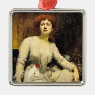 Portrait of Severine  1893 Silver-Colored Square Decoration