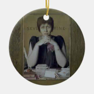 Portrait of Severine (Caroline Remy) (1855-1929) ( Christmas Ornament