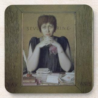Portrait of Severine (Caroline Remy) (1855-1929) ( Coasters
