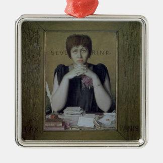 Portrait of Severine (Caroline Remy) (1855-1929) ( Silver-Colored Square Decoration