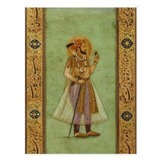 Portrait of Shah Jahan , 1631, Mughal Postcard