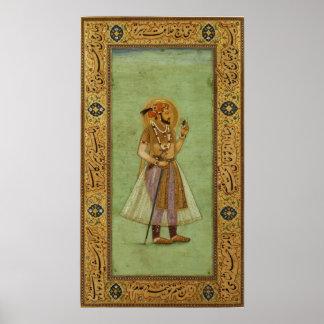 Portrait of Shah Jahan , 1631, Mughal Poster