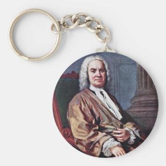 Portrait Of Sigismund Streit By Amigoni Jacopo Basic Round Button Key Ring