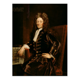 Portrait of Sir Christopher Wren  1711 Postcard