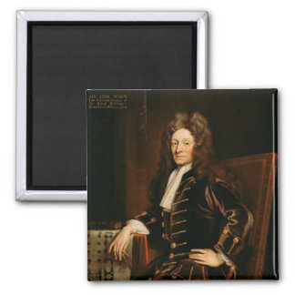 Portrait of Sir Christopher Wren  1711 Square Magnet