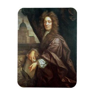 Portrait of Sir Christopher Wren (oil on canvas) Rectangular Photo Magnet