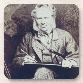 Portrait of Sir Edwin Landseer (1802-73) (albumen Beverage Coaster
