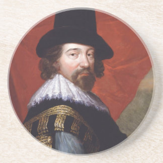 Portrait of Sir Francis Bacon Viscount St Alban Beverage Coaster