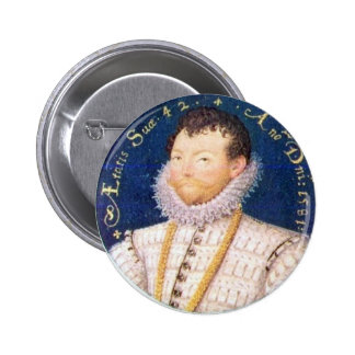 Portrait of Sir Francis Drake, 1581 6 Cm Round Badge