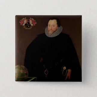 Portrait of Sir Francis Drake  1591 15 Cm Square Badge