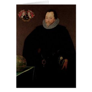 Portrait of Sir Francis Drake  1591 Greeting Card