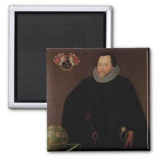 Portrait of Sir Francis Drake  1591 Magnet