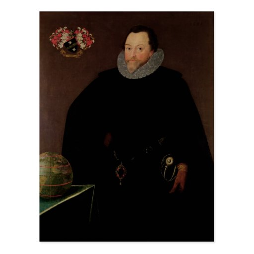 Portrait of Sir Francis Drake  1591 Postcards