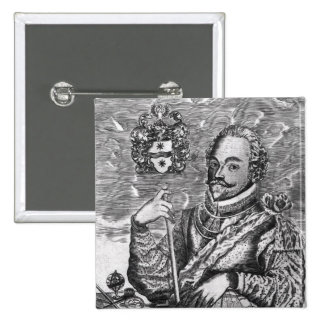 Portrait of Sir Francis Drake 15 Cm Square Badge