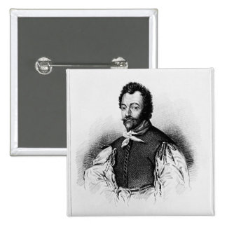 Portrait of Sir Francis Drake Button