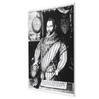 Portrait of Sir Francis Drake Canvas Prints