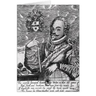 Portrait of Sir Francis Drake Greeting Card