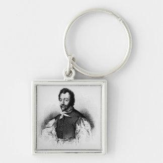 Portrait of Sir Francis Drake Key Chains