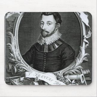 Portrait of Sir Francis Drake Mousepads