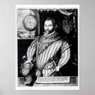 Portrait of Sir Francis Drake Print