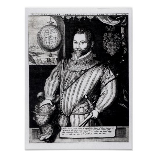 Portrait of Sir Francis Drake Poster