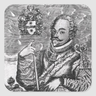 Portrait of Sir Francis Drake Square Sticker