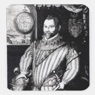Portrait of Sir Francis Drake Square Sticker