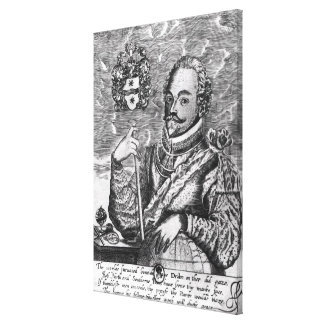 Portrait of Sir Francis Drake Stretched Canvas Print