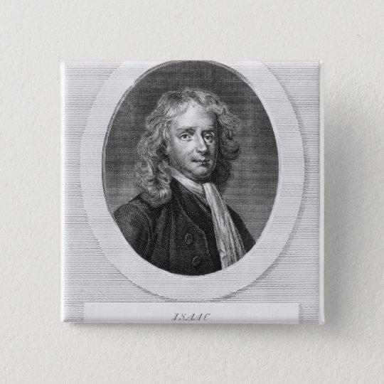 Portrait of Sir Isaac Newton 15 Cm Square Badge