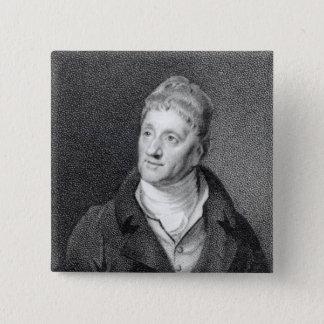 Portrait of Sir John Soane 15 Cm Square Badge