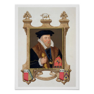 Portrait of Sir Nicholas Bacon (1509-79) from 'Mem Poster