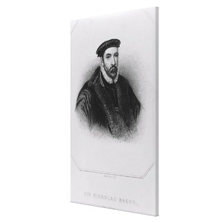 Portrait of Sir Nicholas Bacon Canvas Print