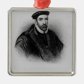 Portrait of Sir Nicholas Bacon Christmas Ornament