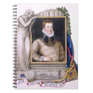 Portrait of Sir Philip Sidney (1554-86) from 'Memo Spiral Notebook