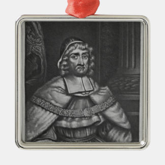 Portrait of Sir Richard Rainsford Silver-Colored Square Decoration