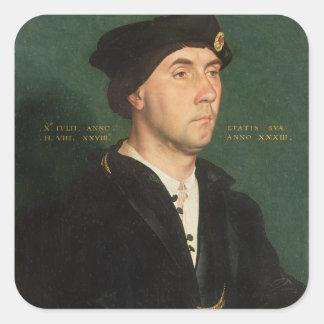 Portrait of Sir Richard Southwell (1504-64) 1536 ( Square Sticker