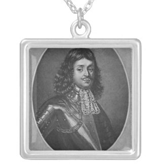 Portrait of Sir Richard Stainer Silver Plated Necklace
