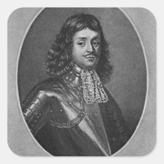Portrait of Sir Richard Stainer Square Sticker