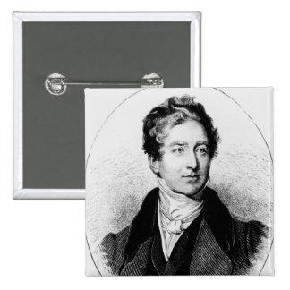 Portrait of Sir Robert Peel 15 Cm Square Badge