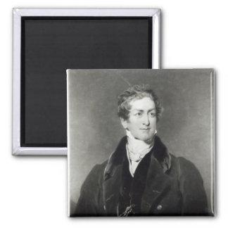 Portrait of Sir Robert Peel Square Magnet