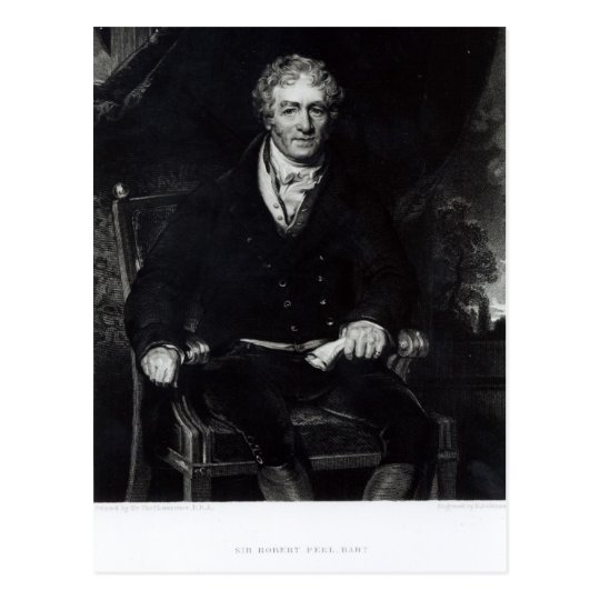 Portrait of Sir Robert Peel Postcard
