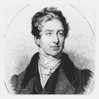 Portrait of Sir Robert Peel Square Sticker