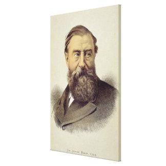 Portrait of Sir Samuel Baker (1821-93) (colour lit Canvas Print