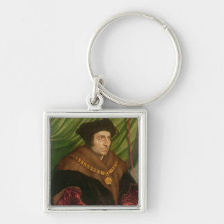 Portrait of Sir Thomas More Silver-Colored Square Key Ring