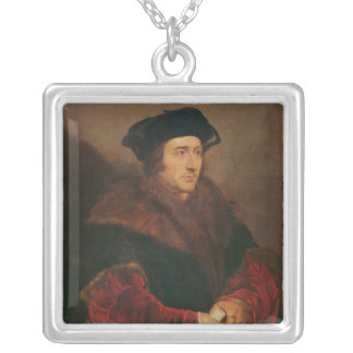 Portrait of Sir Thomas More Silver Plated Necklace